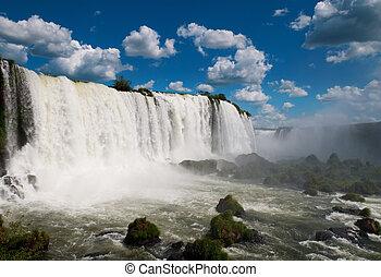 iguazu, waterfalls., brazilie, amerika, zuiden, argentinië