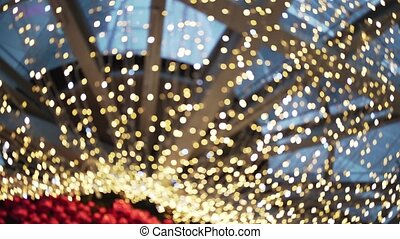 illumination., kleurrijke, decoratief, defocused, schittering, licht
