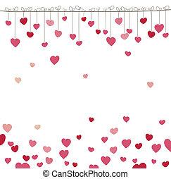 illustratie, achtergrond, vector, heart.