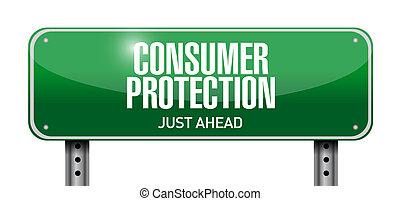 illustratie, meldingsbord, bescherming, ontwerp, consument, straat