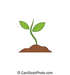 illustratie, vector, pictogram, plant