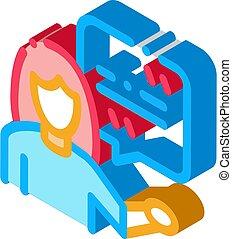 illustratie, vrouw, pictogram, vector, acteur, reproductie