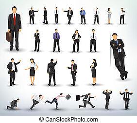illustraties, zakenlui