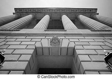 imposant, gebouw, washington dc, regering