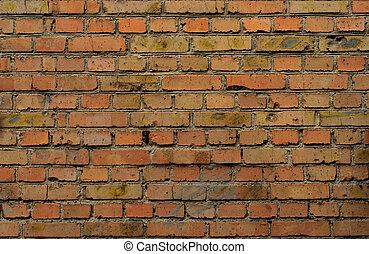 industriebedrijven, muur, baksteen