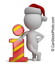 info, mensen, -, kerstman, kleine, 3d, pictogram