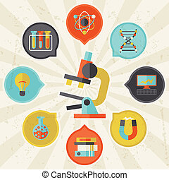info, plat, concept, wetenschap, grafisch ontwerp, style.