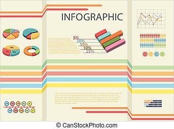 infographic, het tonen, statistiek, mensen