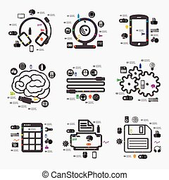 infographic, technologie