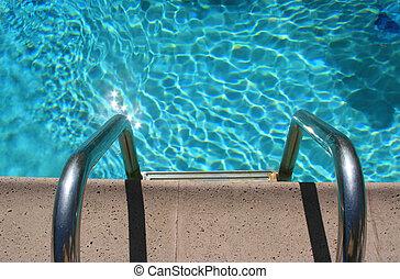 ingang, pool, zwemmen