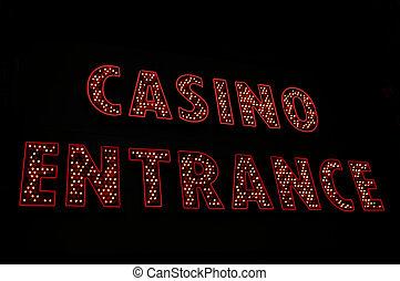 ingang teken, casino, neon, las vegas, las