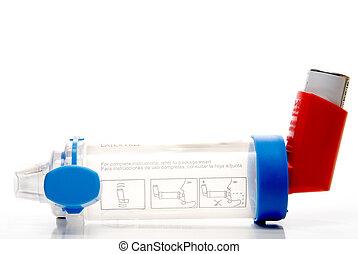 inhaler, astma, buis, uitbreiding