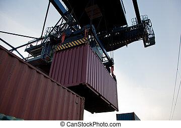 inlading, container