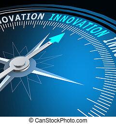 innovatie, woord, kompas