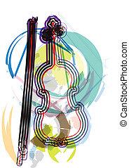 instrument, vector, muziek, illustratie