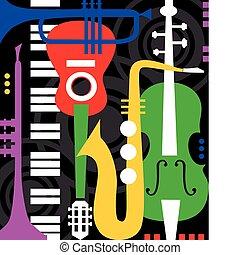 instrumenten, black , muziek