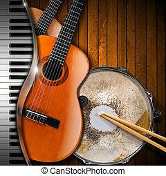 instrumenten, muzikalisch, achtergrond