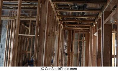 interieur, het ontwerpen, houten, woongebied, woning, thuis gebouw