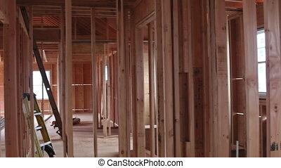 interieur, huizenbouw, het ontwerpen, houten, thuis, woongebied