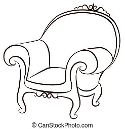 interieur, ouderwetse , arm-chair