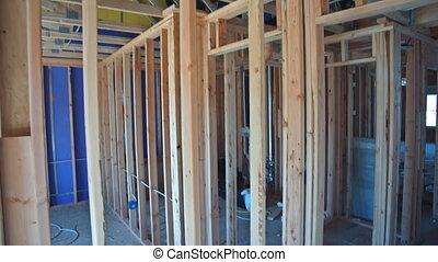 interieur, thuis gebouw, amerikaan, onder, woning, woongebied, frame