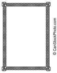 interlace, grens, frame