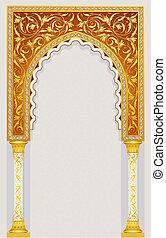 islamitisch, ontwerp, boog