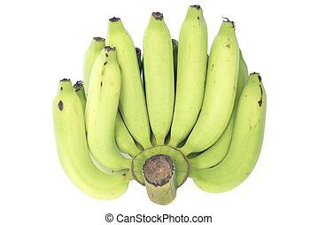 isolated., groene, jonge, banaan
