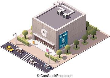 isometric, gadget, winkel, vector