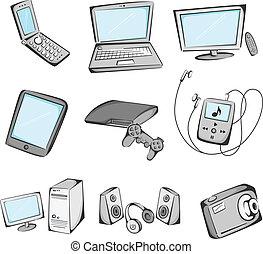 items, elektronica, iconen