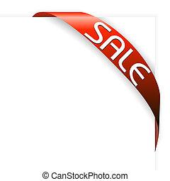 items, lint, verkoop, rood, hoek