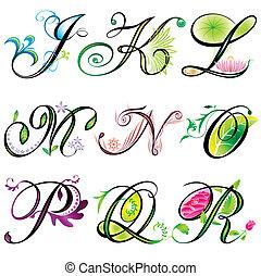 j-r, alfabet, communie