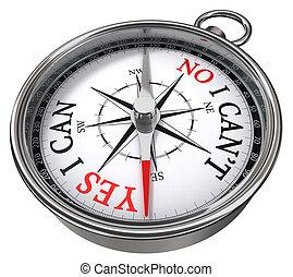 ja, kompas, nee, concept, vs