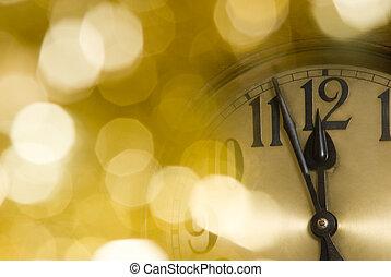 jaarwisseling, klok