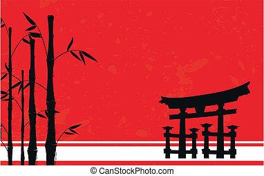 japan, bamboe, background4