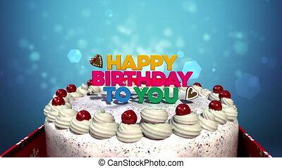 jarig, cake., 'happy, you', typo