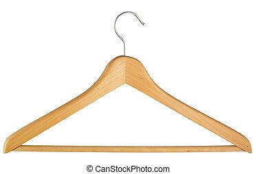 jas, achtergrond, vrijstaand, witte , op, hanger