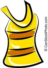 jersey, vector, achtergrond., illustratie, gele, witte