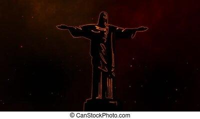 jesus, monument, standbeeld, religie, video