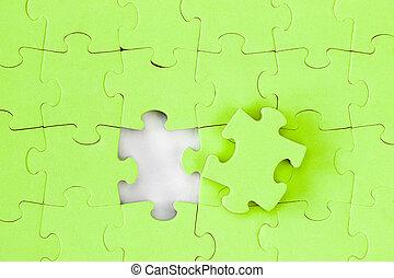 jigsaw, concept, oplossing, raadsel