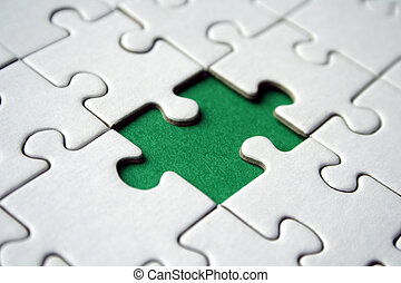 jigsaw, groene, element