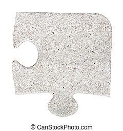 jigsaw, karton, grijs, raadsel