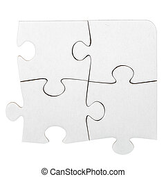 jigsaw, karton, raadsel, witte
