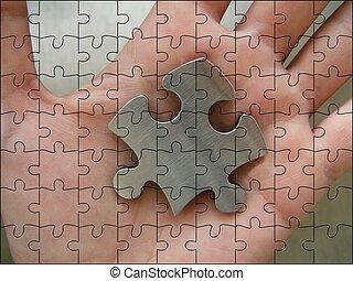jigsaw, metalen, stuk