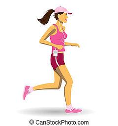 jogging, vrouw