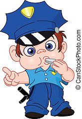 jonge, politieagent