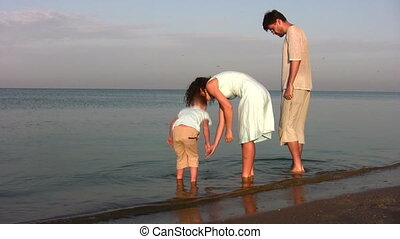 jongen, grondig, gezin, doppen