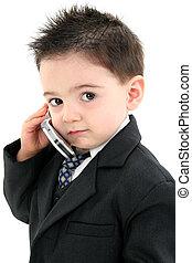 jongen kind, cellphone
