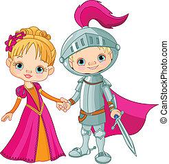 jongen, meisje, middeleeuws