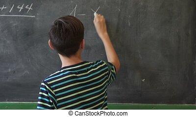 jongen, school, spaans, student, verticaal, het glimlachen, latino, vrolijke